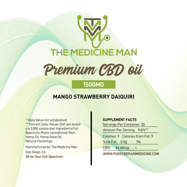Premium CBD Oil label 1500 MG