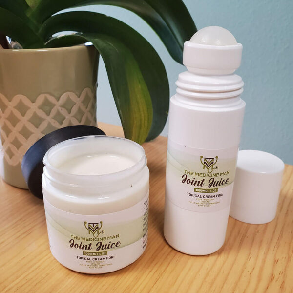 Pure CBD Joint Juice Roller Bottle and Cream